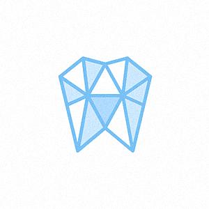 简单的几何形状的logo设计-几何形状牙医logo