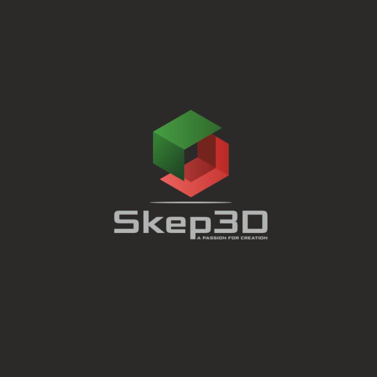 创造现代时尚和高科技印象的几何logo-在设计中使用阴影可以使2D几何图像看起来像3D