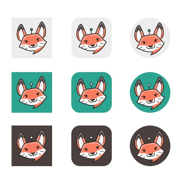 Chatbot头像狐狸吉祥物设计--上海品牌设计公司