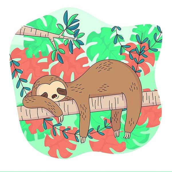 懒惰树懒吉祥物设计--上海品牌设计公司