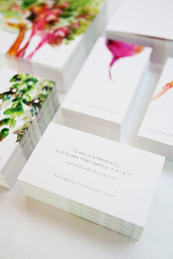 Holli Thompson水彩素食者品牌vi形象设计-水彩蔬菜特写