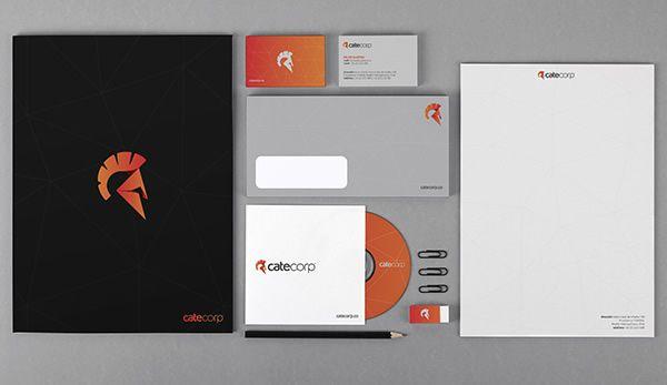 Cate Corp 品牌vi形象设计-文具物料vi设计