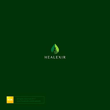 代表健康生活方式的绿色标志logo设计