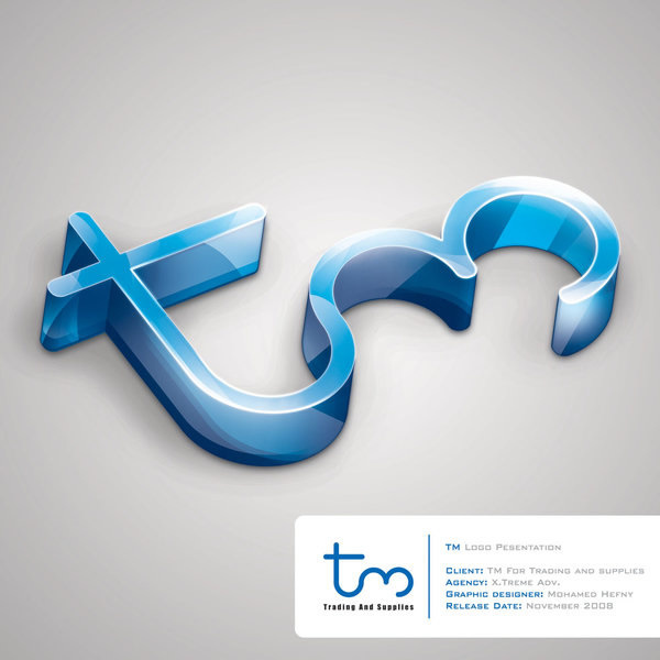 3D立体TM徽标设计