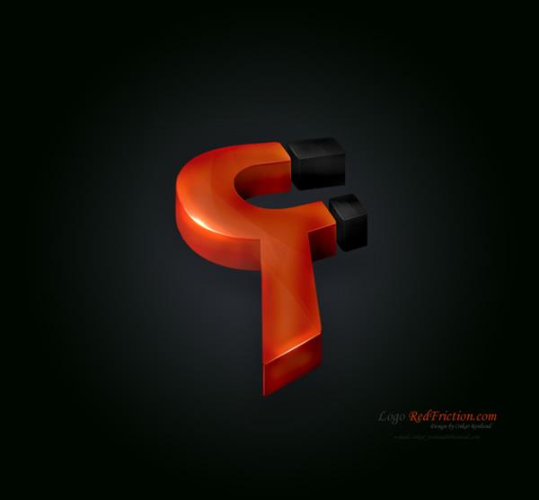 RedFricion 3D立体 logo设计