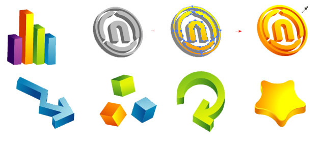 3D与以图例解释者的商标