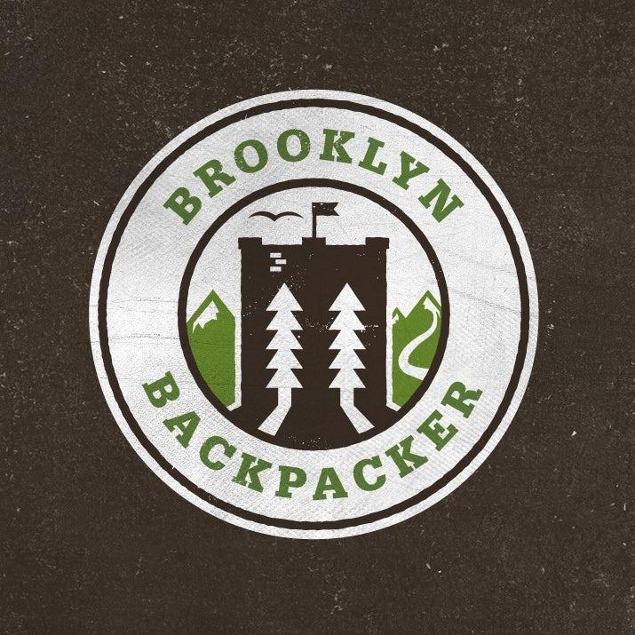 布鲁克林背包客的标志logo设计