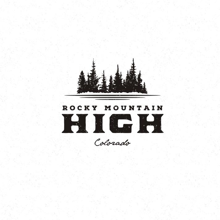 落基山高标志logo设计