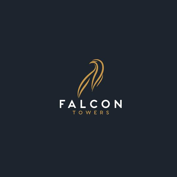 独立酷标志-猎鹰塔标志设计