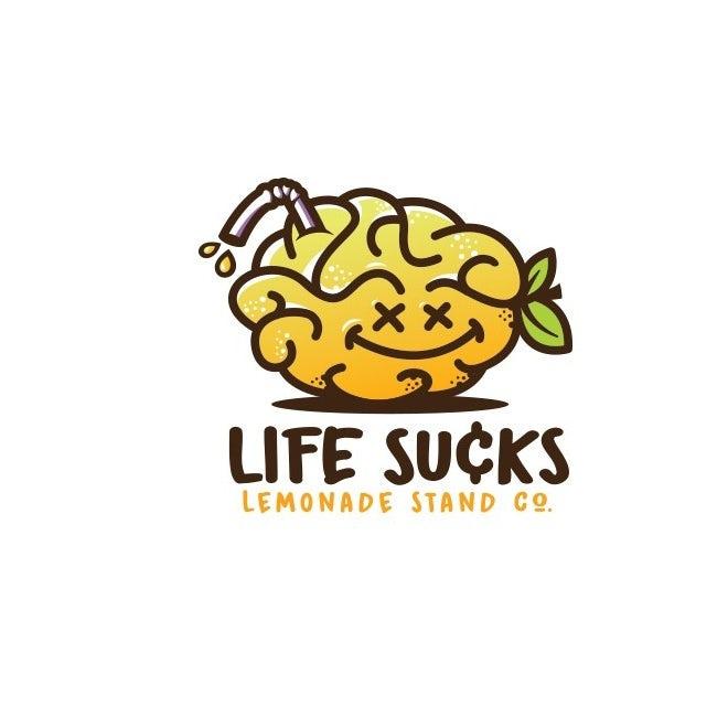自信的酷标志设计-快乐去幸运柠檬脑