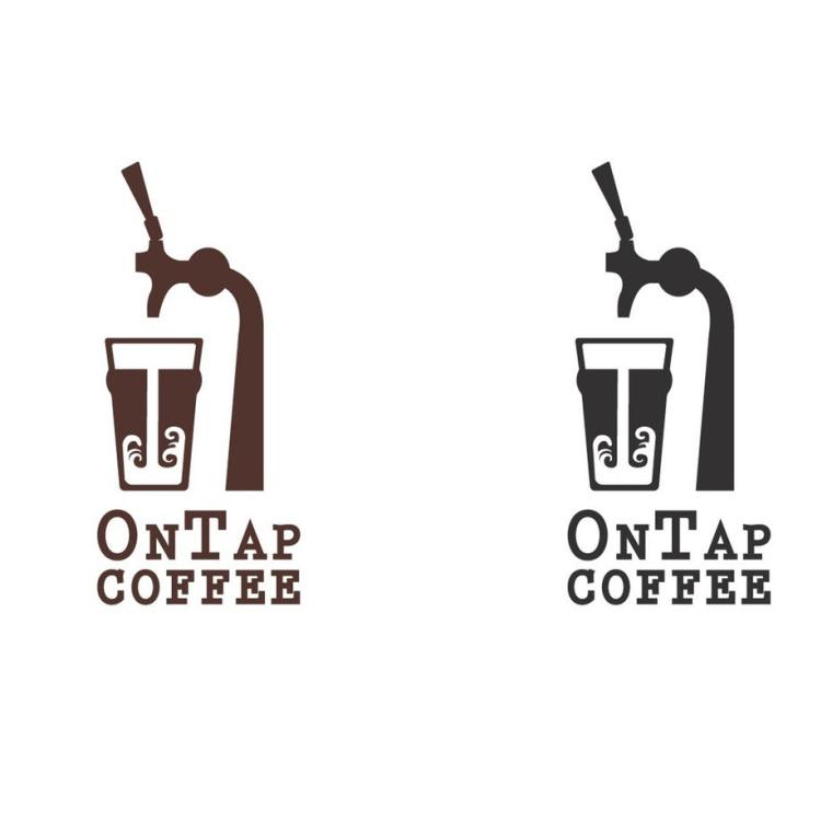 独特的酷标志设计-咖啡水龙头标志设计