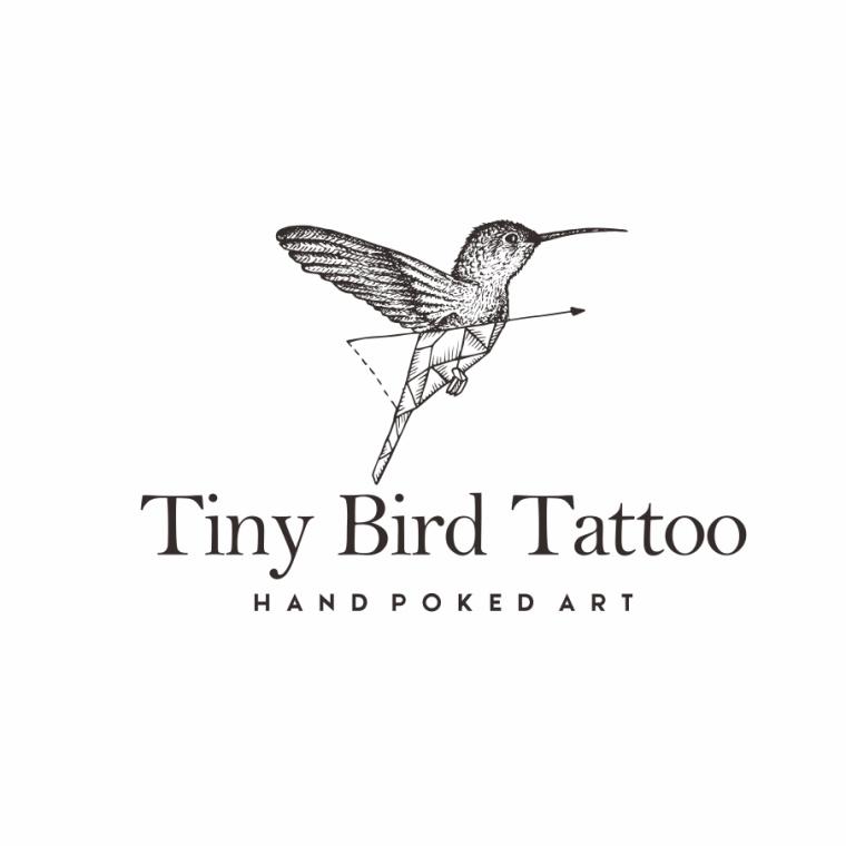 独特的酷标志设计-蜂鸟oragami标志设计