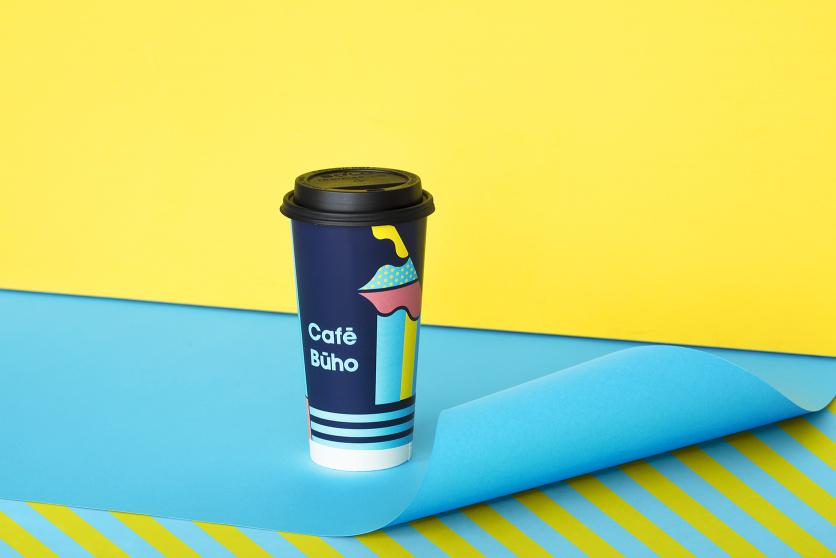 Cafe Buho 咖啡店fun88体育备用形象fun88乐天使备用包装fun88乐天使备用,城市艺术和街头漫画风格