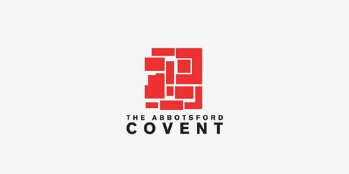 红色标志设计灵感品牌阿伯茨福德修道院标志