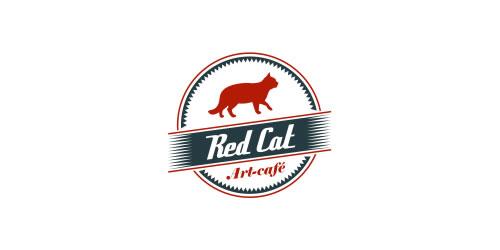 红色标志设计灵感品牌红猫