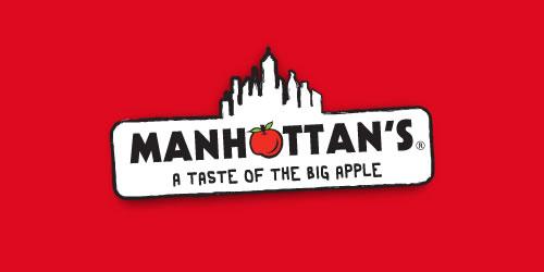 红色标志设计灵感品牌曼哈顿