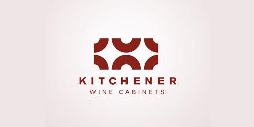 红色标志设计灵感品牌基奇纳酒柜