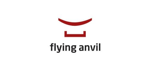 红色标志设计灵感品牌Flying Anvil