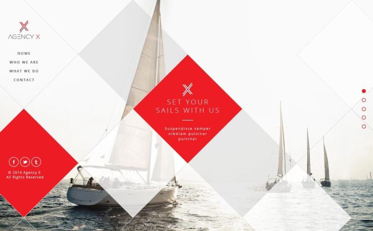 帆船网页设计