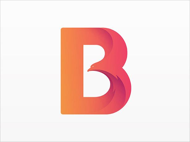 B-信鸟标志设计