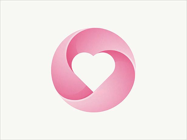 心脏-LOGO-Ombre的-LOGO设计