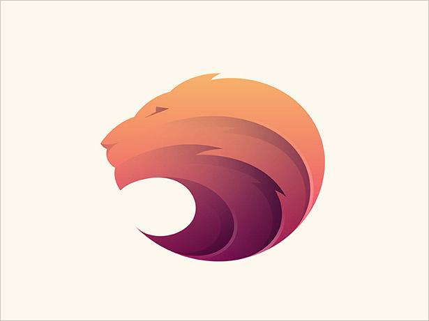狮子徽标设计