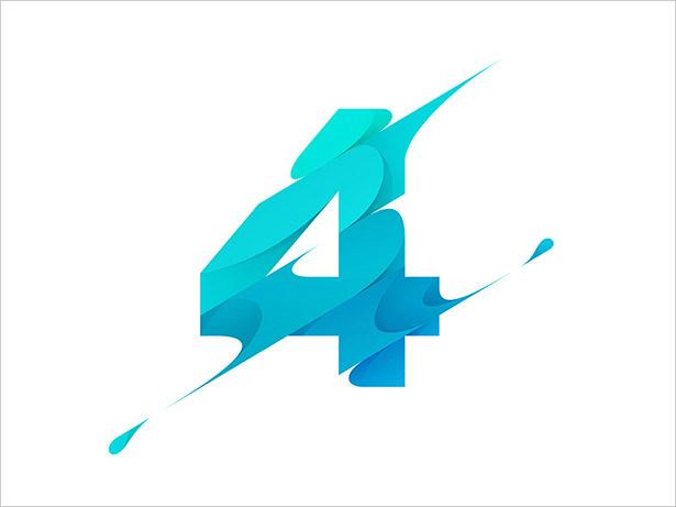 数字-4个字母标志设计