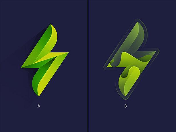 Ombre的-标志 - 设计-实例