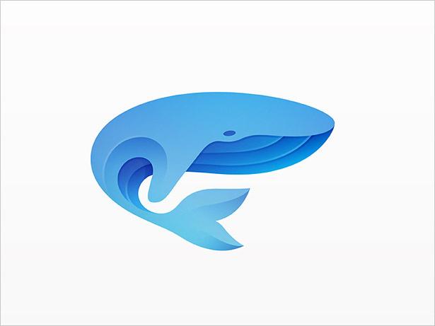 Ombre的鲸-LOGO设计