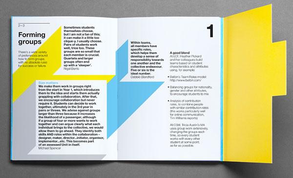 学与教宣传册设计理念