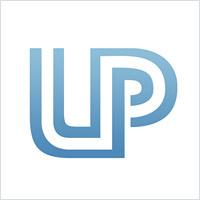不间断的线字母logo