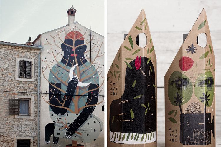 Chiavalon橄榄油包装设计,设计灵感源自克罗地亚的传统建筑和当代艺术