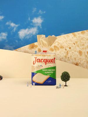 法国Jacquet袋装面包包装设计,展示面粉来自法国农民