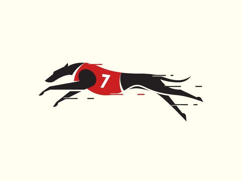 灰猎犬标志设计