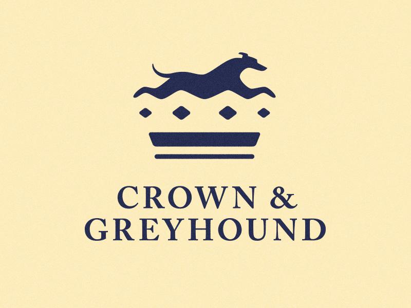 Crown&Greyhound负空间标志