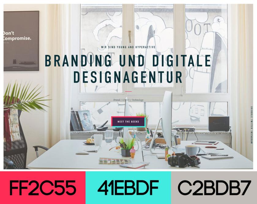 网站设计配色方案-年轻而活跃