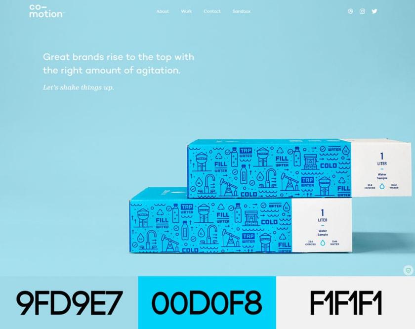 网站设计配色方案-合作工作室