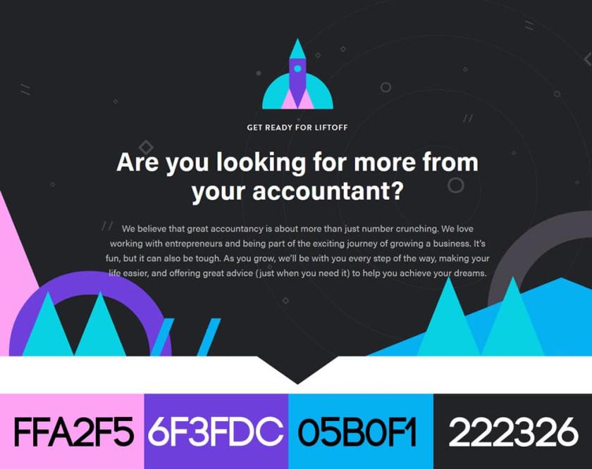 网站设计配色方案-哇公司