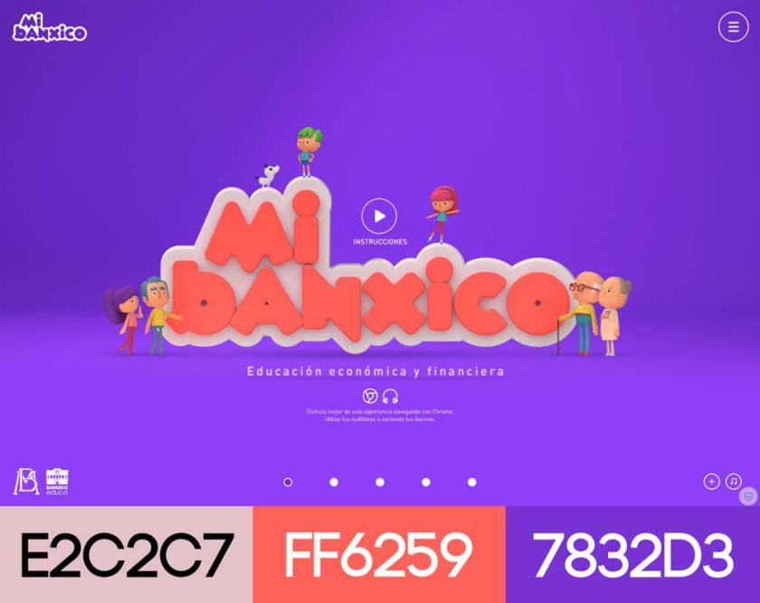 网站设计配色方案-Mi Banxico