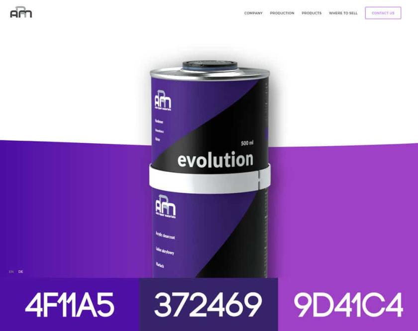2017创意现代网页设计配色方案-汽车修理材料