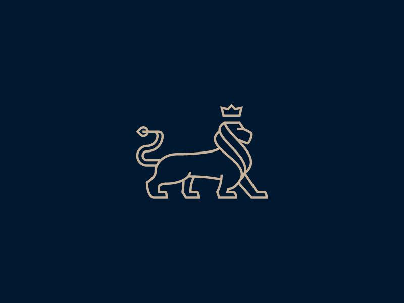 创意保险公司logo设计-狮子