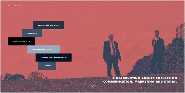 双色调品牌特色在这丹麦网页设计--双色调网页设计-上海网站设计公司教程