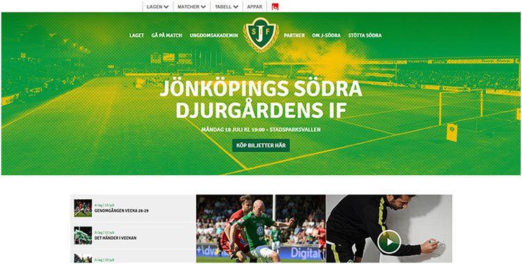 瑞典足球队网站设计充分利用了双色-双色调网页设计-上海网站设计公司教程