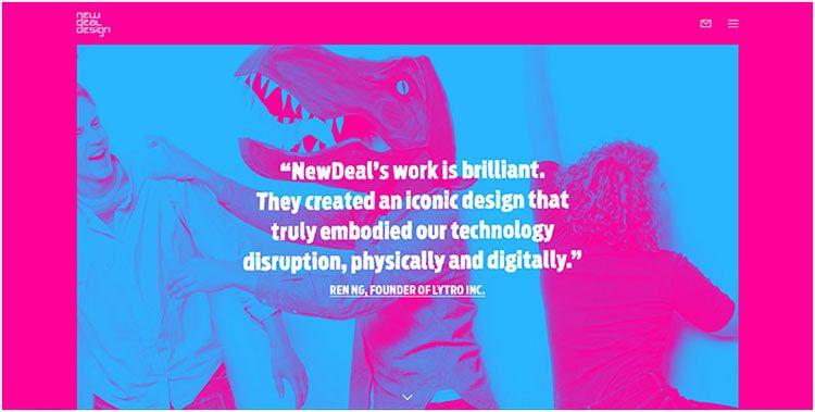 明亮而又安静的强大效果-双色调网页设计-上海网站设计公司教程
