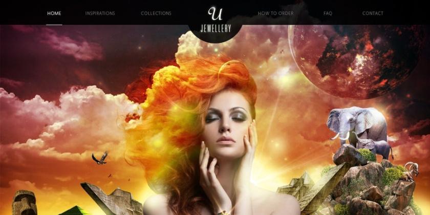 平面设计中的超现实主义-美丽和欲望超现实的网页设计