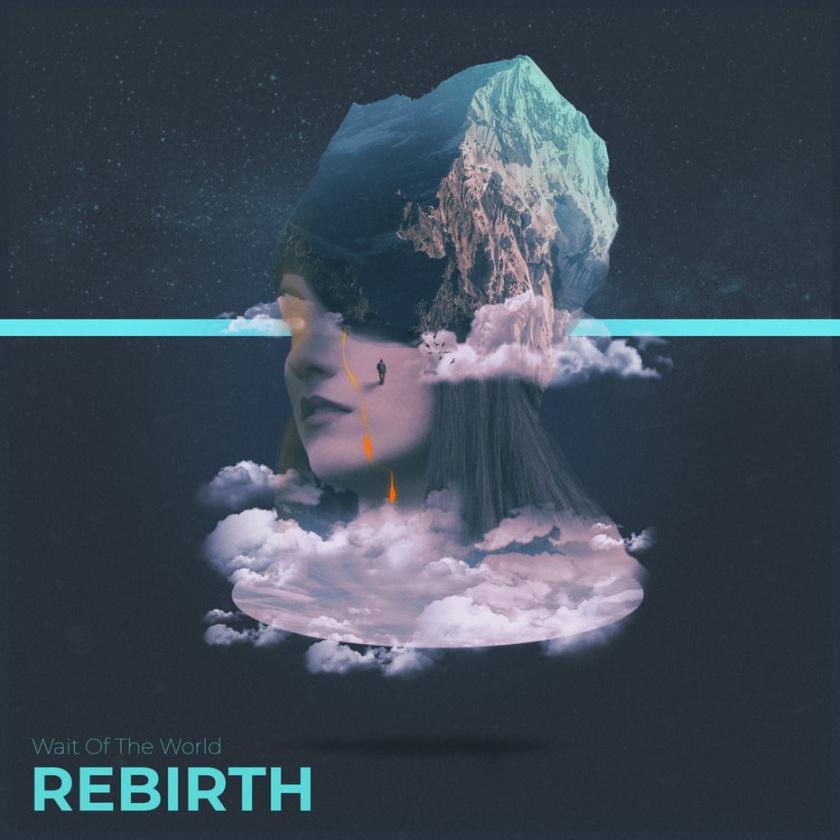平面设计中的超现实主义-超现实专辑封面设计-飘渺的哭泣细长的头骨女人