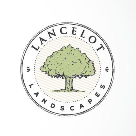 传统徽标logo设计-树和文本的园林绿化公司徽标logo