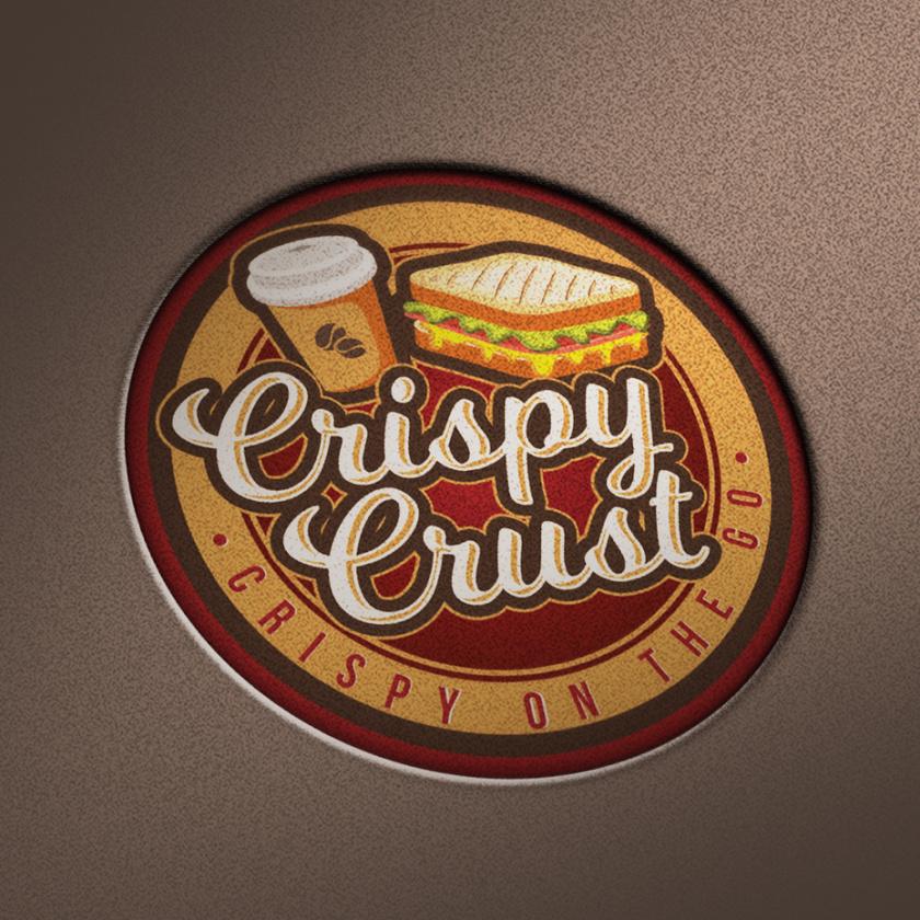 现代徽标logo设计-咖啡和徽标上的三明治徽标logo
