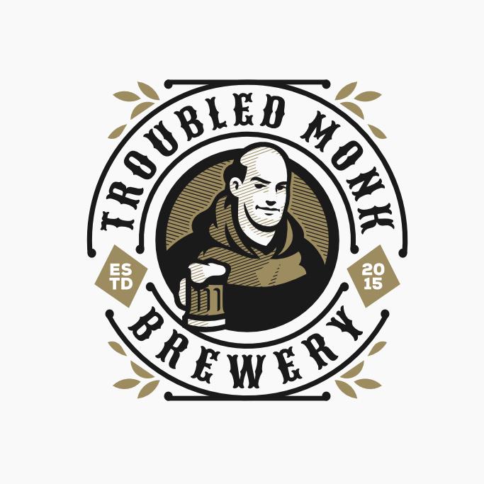 现代徽标logo设计-和尚与啤酒徽标logo