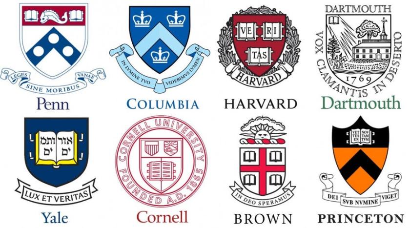 学术会徽徽标logo设计-常春藤联盟学校徽标logo